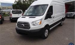 Make Ford Year 2017 Colour White kms 33174 Trans Automatic Price: $39,988 Stock Number: 143702 VIN: 1FTYR3XG1HKA58504 Interior Colour: Grey Cylinders: 6 - Cyl Fuel: Gasoline This 2017 Ford Transit T-250 Extended Length High Roof Cargo Van comes with a
