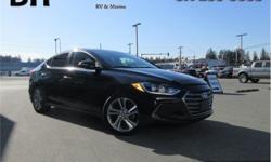 Make Hyundai Model Elantra Year 2017 Colour Black kms 33557 Trans Automatic Price: $20,998 Stock Number: CMP1807A VIN: KMHD84LF4HU249600 Interior Colour: Black Engine: 2.0L I4 16V MPFI DOHC Fuel: Regular Unleaded Navigation, Sunroof, Proximity Key, Back