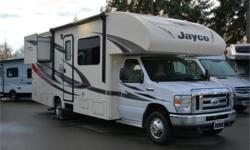 Price: $75,950 Stock Number: 935974-4266 VIN: 1FDXE4FS0HDC31514 Engine: Triton 6.8L When you are ready to travel the country, choose the Redhawk 23XM motor home by Jayco which features double slide outs, and a cab over bunk. As you enter the motor home,