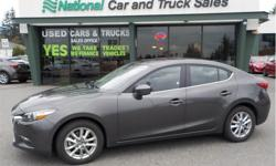 Make Mazda Model MAZDA3 Year 2017 Colour Grey kms 35100 Trans Automatic Price: $18,497 Stock Number: A1068 VIN: JM1BN1V74H1140595 Interior Colour: Black Cylinders: 4 - CYL Heated front seats, alloy wheels, fog lights, and, of course, air conditioning,