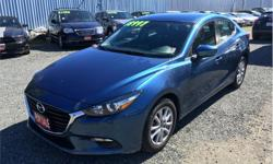 Make Mazda Model MAZDA3 Year 2017 Colour Blue Metallic kms 33900 Trans Automatic Price: $18,496 Stock Number: A1027 VIN: JM1BN1V73H1140135 Cylinders: 4 - Cyl Fuel: Gasoline Fuel efficient, FUN TO DRIVE, with heated seats, heated steering wheel,