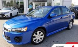 Make Mitsubishi Model Lancer Year 2017 Colour Blue kms 46137 Trans Automatic Price: $17,995 Stock Number: TC3070 VIN: JA32U2FU2HU603070 Engine: 148HP 2.0L 4 Cylinder Engine Fuel: Gasoline This vehicle qualifies for certified pre-owned benefits, which