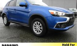 Make Mitsubishi Model RVR Year 2017 Colour Blue kms 44662 Price: $23,995 Stock Number: 9CH8060A VIN: JA4AJ3AU7HZ608006 Interior Colour: Black Engine: Inline 4 Fuel: Gasoline No Accidents. Heated Seats. Rear View Backup Camera. BlueTooth. USB Input. Touch