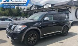 Make Nissan Model Armada Year 2017 Colour Black kms 21533 Trans Automatic Price: $52,888 Stock Number: ZAT2405 VIN: JN8AY2NC4H9502405 Interior Colour: Black Engine: 390HP 5.6L 8 Cylinder Engine Fuel: Gasoline Check out our large selection of pre-owned