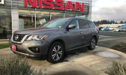 Make Nissan Model Pathfinder Year 2017 Colour grey kms 36400 Trans Automatic 2017 Nissan Pathfinder for sale in Campbell River, British Columbia AWD, leather, heated seats, navigation, One owner, local trade in with no accidents! This 2017 Nissan