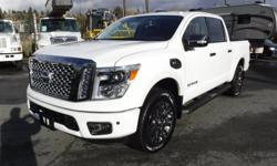 Make Nissan Model Titan Year 2017 Colour White kms 25065 Trans Automatic Stock #: BC0030197 VIN: 1N6AA1E59HN527414 2017 Nissan Titan Platinum Reserve Crew Cab 4WD, 5.6L, 8 cylinder, 4 door, automatic, 4WD, 4-Wheel ABS, 5.5 foot box, cruise control, air