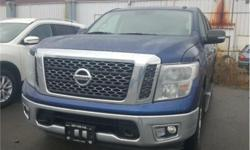 Make Nissan Model Titan Year 2017 Colour Blue kms 39280 Trans Automatic Price: $34,874 Stock Number: N20463 VIN: 1N6AA1EJXHN509274 Interior Colour: Black Engine: 5.6L V8 Engine Configuration: V-shape Cylinders: 8 Fuel: Regular Unleaded Air-conditioning,