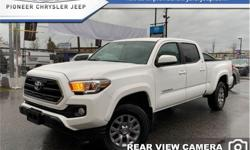 Make Toyota Model Tacoma Year 2017 Colour White kms 27009 Trans Automatic Price: $38,826 Stock Number: A3466 VIN: 5TFDZ5BN5HX023466 Engine: 278HP 3.5L V6 Cylinder Engine Fuel: Gasoline Low Mileage, Bluetooth, Rear View Camera, Air Conditioning, Remote
