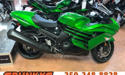 Make Kawasaki Year 2017 kms 1 Brand New Ninja ZX14R On Clear out here At Spunkys! Call The Store Today! Plus $593 FT/PDI, $199 Doc Fees/Tire Levy + Taxes, Financing Available With Multiple Options OAC.