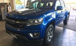 Make Chevrolet Model Colorado Year 2018 Colour Blue kms 14929 Price: $46,595 Stock Number: D6719 VIN: 1GCGTDENXJ1210229 Engine: 3.6L DI DOHC V6 VVT Fuel: Gasoline Touchscreen navigation. Backup camera. Bed liner. Tonneau cover. Heated seats. This