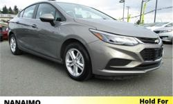 Make Chevrolet Model Cruze Year 2018 Colour Grey kms 21834 Trans Automatic Price: $24,500 Stock Number: PA2519 VIN: 1G1BE5SM8J7152519 Interior Colour: Black Engine: Turbocharged Inline 4 Fuel: Gasoline One Owner. Power Sunroof. Remote Start. Rear View