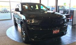 Make Dodge Model Durango Year 2018 Colour Black kms 19620 Trans Automatic Price: $42,500 Stock Number: D6713 VIN: 1C4RDJDG7JC364179 Engine: 3.6L Pentastar VVT V6 w/ESS Fuel: Gasoline Leather interior. Touchscreen entertainment. Multiple USB ports. Seats