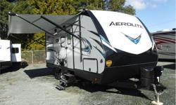 Price: $38,980 Stock Number: 18N0057 VIN: 4YDT21324JP910833 Interior Colour: French Roast This Dutchmen Aerolite travel trailer model 2133RB provides a good night's sleep on the front queen bed, or on the single slide out booth