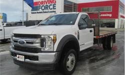 Make Ford Model F-550 Super Duty DRW Year 2018 Colour White kms 15904 Trans Automatic Price: $67,998 Stock Number: 150850 VIN: 1FDUF5HTXJEB01400 Interior Colour: Grey Cylinders: 8 - Cyl Fuel: Diesel This 2018 Ford F-550 Super Duty XLT Regular Cab 3