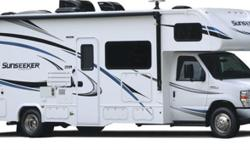 Price: $89,900 Stock Number: 2711 Fuel: Gasoline 2018 Forest River Sunseeker 2300 Ford Chassis SUNSEEKER CLASS C MOTORHOMESSunseeker's unique split level design gives you maximum headroom in the living area, while still offering pass-through storage on