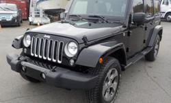 Make Jeep Year 2018 Colour Black Trans Automatic kms 16455 Stock #: BC0030426 VIN: 1C4HJWEG7JL872975 2018 Jeep Wrangler JK Unlimited Sahara 4WD, 4 door, 3.6L V6 DOHC 24V FFV engine, 4 door, automatic, 4WD, 4-Wheel AB, cruise control, air conditioning,