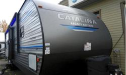 Price: $46,995 Stock Number: RV-1816 New floor plan & design! Beautiful rear kitchen plan with side patio, fireplace dinette and bright front master! Sleeps 6!2019 Coachmen Catalina Legacy Edition 303RKPThe Coachmen Catalina is a trusted name that