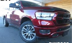 Make Ram Model 1500 Year 2019 Colour Red kms 11321 Trans Automatic Price: $55,995 Stock Number: ZJ1805A VIN: 1C6SRFLT5KN559810 Engine: 5.7L HEMI VVT V8 w/FuelSaver MDS Fuel: Gasoline Sunroof, Leather Seats, Heated/Vented Seats, Bluetooth! This 2019 Ram