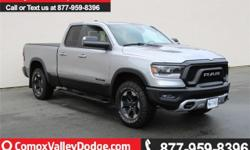 """Make Ram Model 1500 Year 2019 Colour Silver kms 532 Trans Automatic This Rebel/quad cab is equipped with keyless entry/remote start/back up camera/SXM/ Bluetooth/CD/Google Android Auto/Apple CarPlay """"capable"""" w/steering wheel mounted audio controls/heated"""