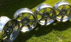 """I have a set of 20"""" Chromed Aluminum rims. 8 bolt pattern that will fit any SuperDuty Ford. They are in great shape. They are clean but a little pitted. I have lowered the price because of that. I bought new rims so I'm selling these. Very clean"""