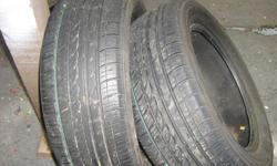 """These 2 tires are virtually new,still paint between treads size 215 55 r16"""" kenjanmack@shaw.ca"""