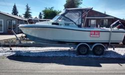 21 ft 1986 chris craft scorpion and ez load trailer for sale. comes with gps, sounder, vhf radio, and full canvas. 150 Suzuki 4 stroke just installed new computer runs fine. great west coast fishing boat.