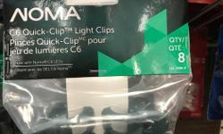 These Christmas lights clips work extremely well. They sell at Canadian Tire for $4.99 for 8 clips (see pic). That works out to be 62 cents per clip or $139 for 224. So 224 clips for $50 is very reasonable. Used for one season but no longer need them.