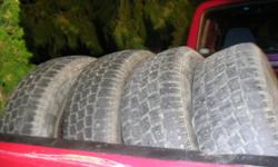 i have a set of four 235/75/15 hankook zovac HPW 401 winter tires 3 are about 50% and the fourth is about 40% im hoping to get 200 for all. 50$ a tire seems pretty reasonable, or make me an offer need them gone, call or txt 250 354 8271