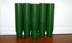 250 for $40 or entire box of 500 for $75 These dark green pots are very sturdy (the good strong kind) made in Canada and great quality. They're perfect for the home gardener and will last for years!