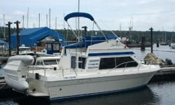 """IMMACUALTE! - Come See This Well Maintained, Fast, DIESEL Commander 26'......Espar diesel heat, radar and recent major $7,000 service by Stem To Stern Marine, & New Batteries! The """"Arm's Reach"""" 26' Commander is one of the most proven West Coast boats."""