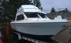 1987 26ft commander sport cruiser hull , new transom , stringers ect ... needs floor and gas tank. I have the original cabinets , helm and other parts. Ordered a new welded aluminum boat so this project needs a home. If you good with fiber glass this will