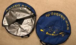 2 Travel bags for 700c Bicycle wheels. $20 for both. Excellent condition.