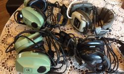 2 David Clark 10-80s $350 plus 2 other headsets free 10-80s cost $400 each new.Airplane/helicopter headsets 250 710 9817