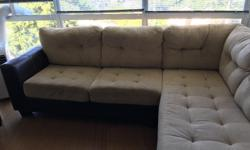 """2 piece sectional, worn but still nice and comfy. Longer section is 82"""" Shorter section is 68"""""""
