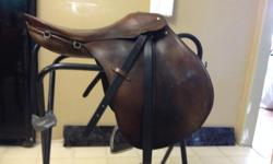 Priced separately, or take both for $200. Offers welcomed. 2 English saddles for sale, both cleaned and oiled: 1.Fantastic Hannover Passier All Purpose Saddle Great schooling or show saddle. Billets are in great shape. Cut back for horses with high