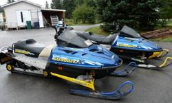 2 1998 summit 670 x 1 mod 1 stock good running sleds . Willing to trade for a CJ Jeep roadworthy ,must pass BC inspection .