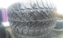 2 used 225/50/17 Goodyear ultra grip winter's 75-80% remaining Posted with Used.ca app