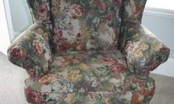 2 Wingback Chairs & Ottoman $600 Excellent Condition, like new Ball and claw leg Sklar Peppler made, very good brand and quality. Very comfortable too! Selling because they don't suit my decor anymore, otherwise they are great chairs. Will be sad to see