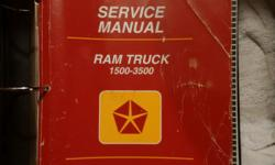 Make Dodge Year 1994 I have a 2nd Gen Service manual for 1500 - 3500 Ram Trucks 2 wheel & 4 wheel drive. This manual is specifically for the 1997, but has been used on trucks from 1994 to 1998.