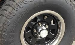 """Hey, selling my brand new nexen mt's on 15""""x7 5x5 bolt pattern wheels with beauty rings, amazing tire in the dirt and gives a aggressive look to any smaller truck, went bigger so no longer need."""