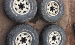 Nice set of 33's on stock 15x7 Stock 6 bolt Toyota Rims, text/call! For viewing