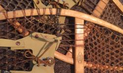 beautiful *as new* never used, tough hand made real snow shoes with leather straps, aprox 3 foot in size , $130.00 please call 250-619-0457 to buy