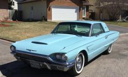 Make Ford Year 1965 Colour Baby Blue Trans Automatic kms 82000 1965 FORD THUNDERBIRD (REFURBISHED) BEAUTIFUL (MUST SEE!!!) -Appraised at over $20,000 -390 V8 motor rebuilt (ONLY!! 2,000 km on the motor) -Transmission rebuilt last year -NEW-Edelbrock carb.