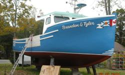 39foot ,fibreglass boat built 1996 ,300 volvo turbo,very good shape, electronics ,sounder si -tex -coden cvs-128,furuno fvc 668,,vhf cobra and uniden-es ,plotter explorer plus,furuno gps,and furuno radar 24 miles,core licences included  lobster and