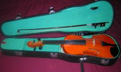 This is a 3/4 Cremona CSU 1975 violin with bow, resin and case. We had this serviced when we arived in Nanaimo a year ago but since the house we moved into is so small he have to let our collection of musical instruments go. I don't know much about