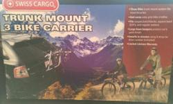 Swiss cargo SC-T103 truck mount 3 bike carrier. Brand new never out of box. No holds and listed on other sites