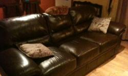 3 couches for sale, one bonded leather in great condition, very minor scratches, brown, asking 300. Two other matching couch and loveseat, paid over 2500$ five years ago, again in great condition, asking 650 for the pair. Both good finds, just need more