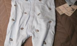 New blue puppy sleeper in size 3 months from Carters. From non-smoking home. Asking $4.