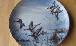 """""""In To Feed"""" """"Hazy Ascent"""" & """"Last of the Season"""" from the collection """"Ducks Taking Flight"""" edition limited to 14 firing days. the Danbury Mint. $15 each or $100 for 9 plates"""