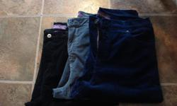"""Just like new, my mom lost a bunch of weight after her knee replacement and don't fit her now. $10.00 each Black is size 14 Grey is size 12 Navy is size 12 Check out more of my ads by clicking on """"view this sellers items"""""""